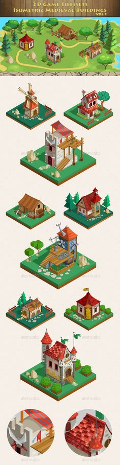 Isometric Game Asset - Medieval Buildings Vol 1