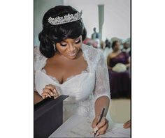 Checkout adorable photo of Toolz signing her marriage certificate (Photo)