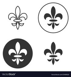 Download a Free Preview or High Quality Adobe Illustrator Ai, EPS, PDF and High Resolution JPEG versions.Collection of fleur de lis symbols, black silhouettes - heraldic symbols. Vector Illustration. Medieval signs. Glowing french fleur de lis royal lily. Elegant decoration symbols.