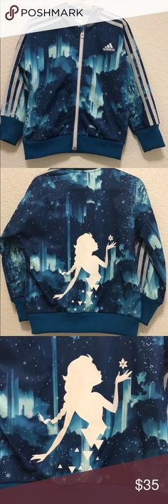 Adidas Frozen jacket size 5/6 Worn once didn't come with pants. Bought alone at adidas store. Very cute. Can wear at Disney adidas Jackets & Coats