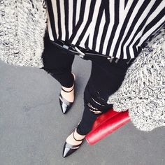 """""""#repost from @rouge_fox pounding the pavement in our Bullhead Denim. #bullhead #fromwhereistand"""""""