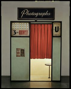 Vintage photo booth..