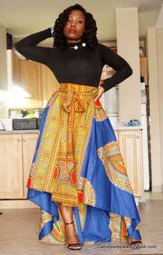 Rose Dashiki skirt ~Latest African Fashion, African Prints, African fashion styles, African clothing, Nigerian style, Ghanaian fashion, African women dresses, African Bags, African shoes, Nigerian fashion, Ankara, Kitenge, Aso okè, Kenté, brocade. ~DKK