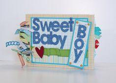 Baby Boy Scrapbook Mini Album