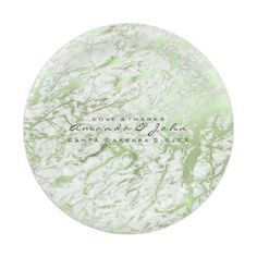 #marble Stone White Mint Green Greenery Luxury Paper Plate - #white #marble #gifts