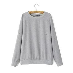 Women casual Vogue Simple Designers Harajuku sweatshirts long sleeve O-neck pullovers street wear polka dot tops Roupa Menina