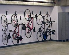 Now new construction is putting them on street level with space-efficient bike racks, plus   amenities such as public bike repair stands, bike washing stations, lockers, and changing areas with showers.http://velodomeshelters.com