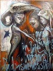 Herakut (annar_50) Tags: street art urbain graffiti hera akut Herakut redflaggcom
