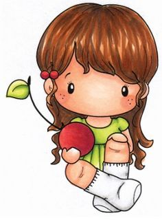 C.C. Designs - Cling Mounted Rubber Stamp - Swiss Pixie Cherry Lucy,$6.99