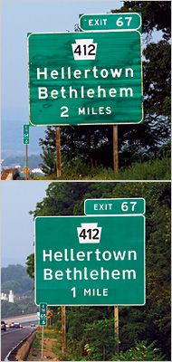 FHWA vs (sort of new) Clearview typeface on road signs  The Road to Clarity - Joshua Yaffa NYT