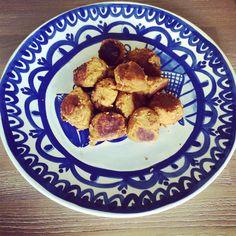 Zoete aardappel falafel