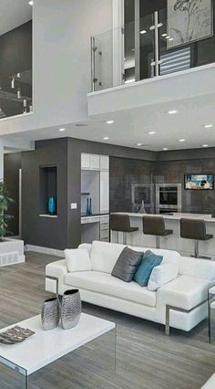 trendy home decored ideas living room paint colors staircases Dream Home Design, Modern House Design, Home Interior Design, Contemporary Living Room Designs, Contemporary Decor, Paint Colors For Living Room, Living Room Decor, Room Paint, Living Area