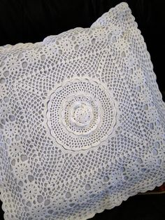 Ripples Crochet Lace Pillow Sham 17-1/2inch Square