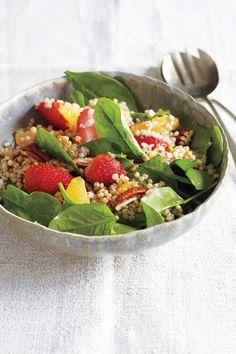 Whole Grain Sorghum Salad #Recipe (Naturally Gluten Free) - http://glutenfreerecipebox.com/gluten-free-sorghum-salad/ #glutenfree #glutenfreerecipes