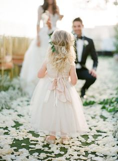 Walking on petals: http://www.stylemepretty.com/2015/06/19/the-most-adorable-flower-girls-ever/