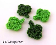 Little One-Round Shamrock, free pattern by Jennifer Dickerson of Fiber Flux   . . . .   ღTrish W ~ http://www.pinterest.com/trishw/  . . . .  #crochet