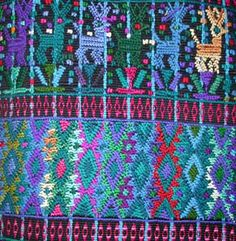 This textile was woven by Catalina Lopez Sajvin on a back strap loom and make into calf-length pants for her father, Luis Lopez Ordoñez.  Lu...