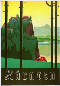 Carinthia, Travel Austria Vintage Poster 1930s