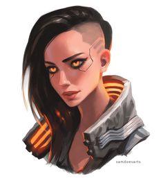 Cyberpunk 2077, Cyberpunk Kunst, Character Concept, Character Art, Concept Art, Character Design, Manga Anime, Sci Fi Characters, Color Studies