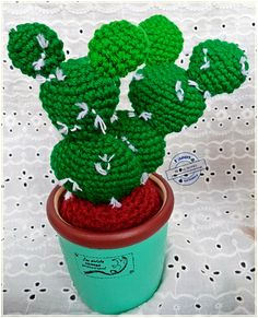 #HappyKnite Cactus M zise