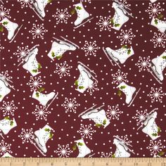 Designed by Bonnie Sullivan for Maywood Studio, this double napped (brushed on both sides) flannel fabric is perfect for quilting and apparel. Colors include white, grey, green and dark red.