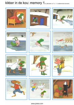 Memory 'Kikker in de kou' Activities For Kids, Crafts For Kids, Reading Practice, Winter Project, School Memories, Winter Kids, Too Cool For School, Kindergarten Worksheets, Winter Wonderland