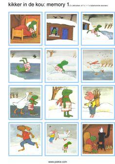 Visueel geheugen memorie Kikker in de kou