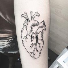 Anatomical Heart Drawing, Tattoo Ideas, Tattoo Designs, Black Tattoo Art, Tattoo Arm, Tattoo Inspiration, Tattos, Blackwork, Cool Tattoos