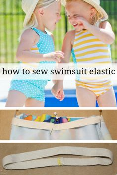 Sewing swimsuit elastic is easier than you think. These tips and tricks will give you the info on sewing swimsuit elastic into your homemade swimsuits! Sewing Hacks, Sewing Tutorials, Sewing Patterns, Sewing Tips, Basic Sewing, Sewing Projects, Crochet Bikini Pattern, Swimsuit Pattern, Sewing For Kids