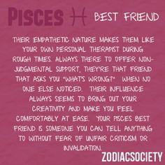Pisces as a best friend