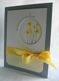 Make this with the MFT Punch A Bunch stamp set  and SU large oval punch *