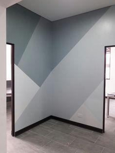 Bedroom Wall Designs, Wall Decor Design, Accent Wall Bedroom, Bedroom Decor, Wall Painting Living Room, Wall Painting Decor, Geometric Wall Paint, Modern Home Interior Design, Room Colors