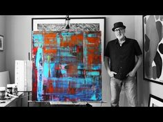 Instructional. Learning 12 Acrylic Abstract Painting Techniques (HD) by Jan van Oort - YouTube