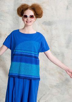 Patterned & solid-colour jersey – Gudrun Sjödén