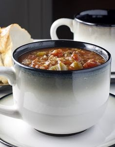 Slow Cooker Stuffed Pepper Soup. This is Yummy! I added mushrooms, italian style stewed tomatoes , celery, extra onion, and used meatballs from Ikea.