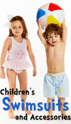 e96c1f4f45 Shop girls and boys swimwear at Cecil and Lou! Buy classic smocked and  monogrammed children's