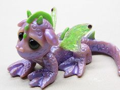 Handmade Polymer Clay Baby Dragon by Woodlandkreatures,