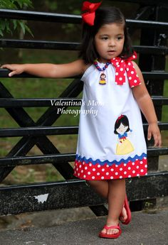 Beautiful Snow White princess inspired pillowcase dress