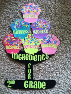 cupcake classroom sign by KraftyKatiesBoutique on Etsy