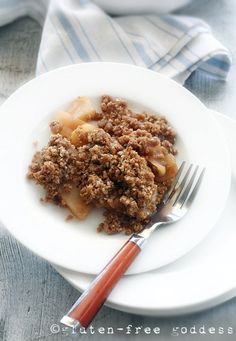 Karina's gluten-free apple crisp warm from the oven. It's also fabulous chilled.