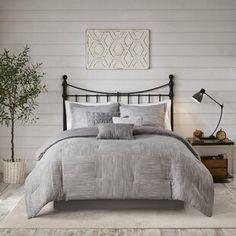 Comforters & Comforter Sets You'll Love in 2021 | Wayfair King Duvet Cover Sets, Duvet Covers, Home Renovation, California King Duvet Cover, Grey Comforter Sets, Grey Duvet, Bedding Sets, Shops, Queen Duvet