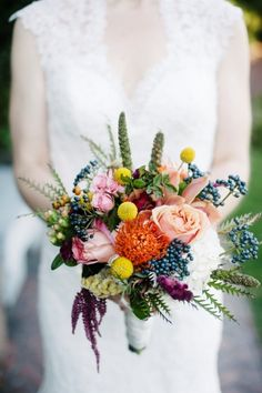 Rich jewel tones: http://www.stylemepretty.com/2015/09/14/25-breathtaking-bouquets-perfect-for-fall/