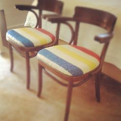 inspires an HBC point blanket chair