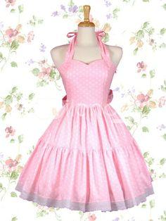3220762180f Cheap Pink Halter Sweetheart Neckline Sleeveless Sweet Lolita Dress With  Vertical Pleats Style Sale At Lolita Dresses Online Shop.