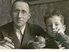 Bertolt Brecht and son Stefan. 1931