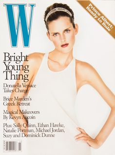 W Magazine's Supermodel Cover Girls - Stella Tennant on the cover of W Magazine November 1997 V Magazine, Fashion Magazine Cover, Magazine Covers, Cosmopolitan, Marie Claire, Vanity Fair, Michael Thompson, Stella Tennant, Interview