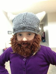 bd5a100e961 Fuzzy Beard Crochet Viking Hat- Adding this to my