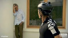 """The """"L"""" did not stand for """"Look behind you."""" #TopGear"""