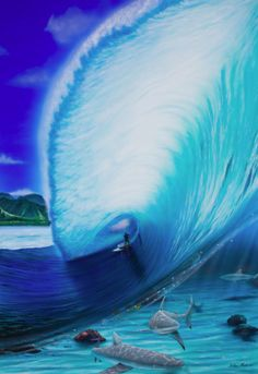 Stand Up Paddle Surfer #StandUpArt #SUPSurf #SUPArt #PaddleSurfArt #StandupPaddle