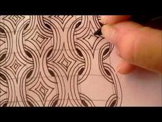 How to draw tanglepattern MI2 - YouTube